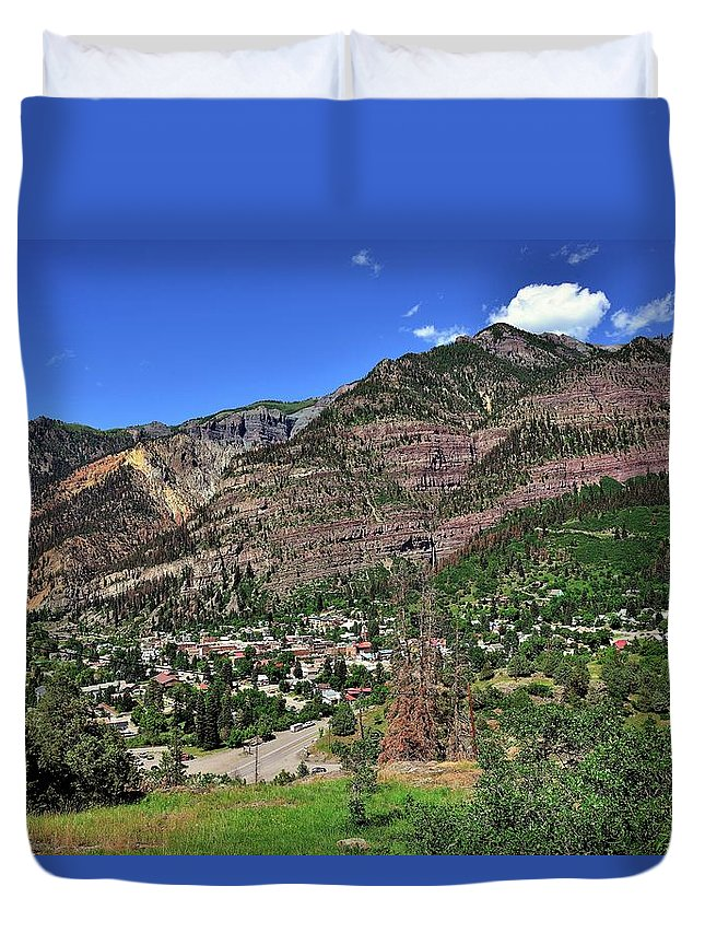 Mountains Duvet Cover featuring the photograph Ouray, Colorado by Gerald Blaine