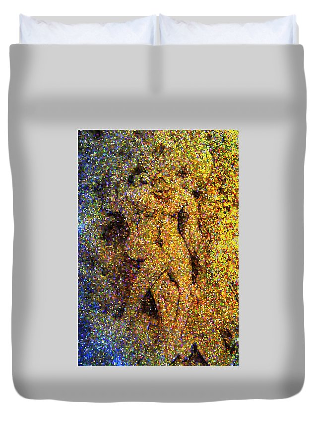 Abstract Duvet Cover featuring the digital art Out Of Eden by Dave Martsolf