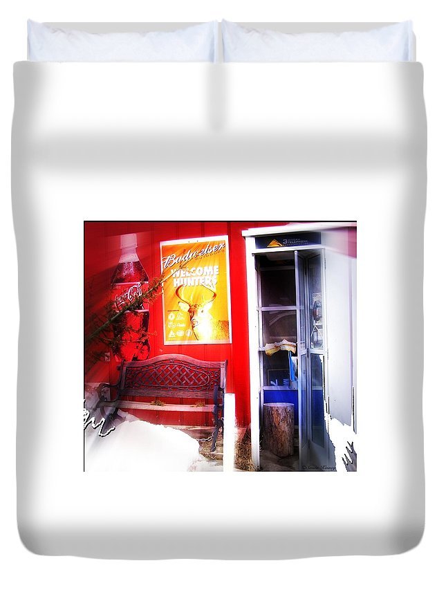 Photo Duvet Cover featuring the photograph Out Of My Calling Area by Susan Kinney