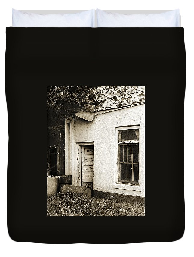 Men's Room Duvet Cover featuring the photograph Out Of Order by Marilyn Hunt