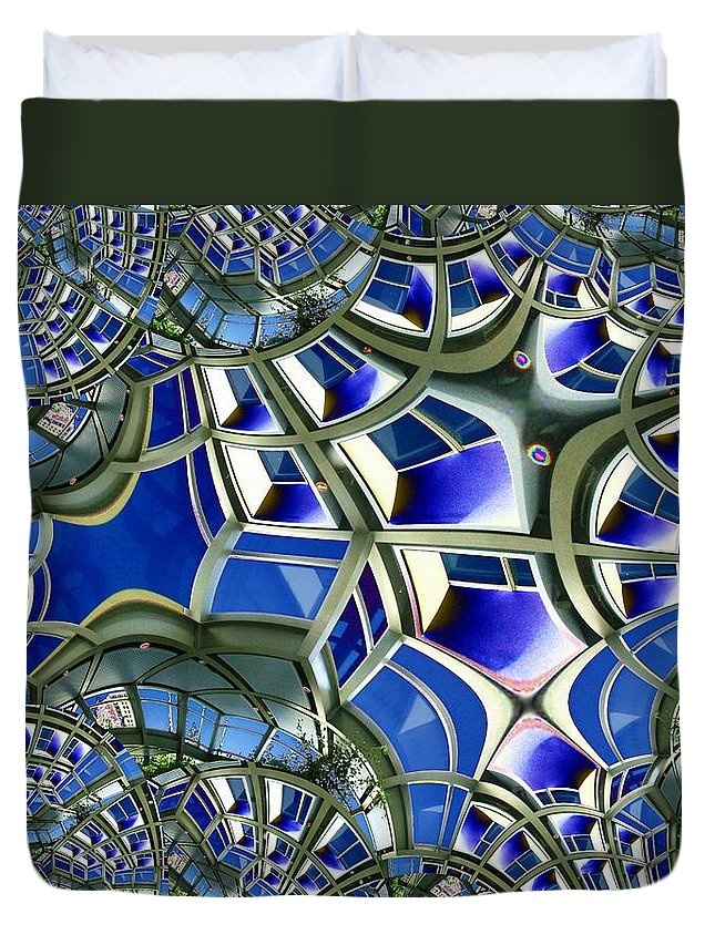 Windows Duvet Cover featuring the photograph Out The Looking Glass by Tim Allen