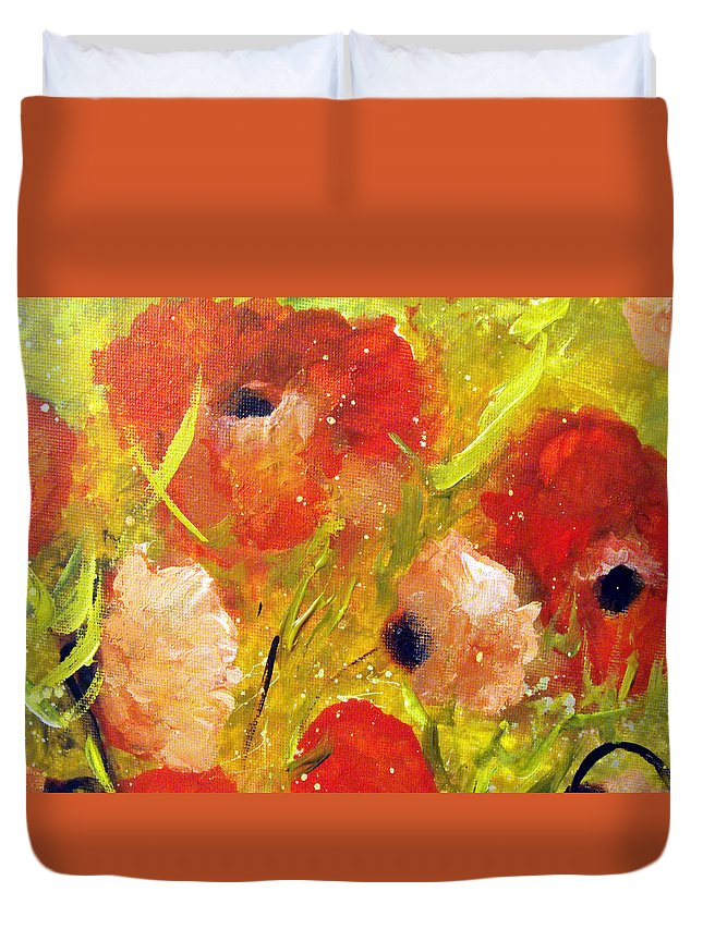 Decorative Duvet Cover featuring the painting Out With The Sun by Ruth Palmer