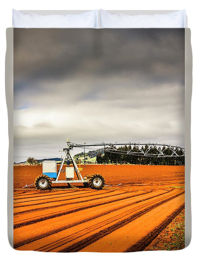 Agriculture Duvet Cover featuring the photograph Outback Australia Agriculture by Jorgo Photography - Wall Art Gallery