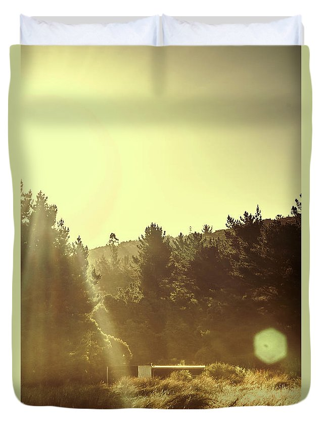 Nature Duvet Cover featuring the photograph Outback Radiance by Jorgo Photography - Wall Art Gallery