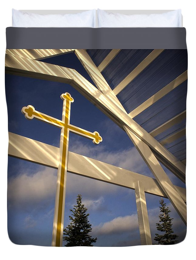 Orthodox Duvet Cover featuring the photograph Outdoor Inspiration by LuAnn Griffin