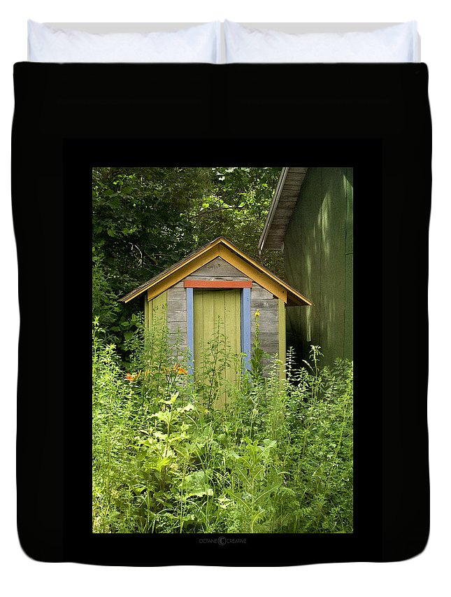 Outhouse Duvet Cover featuring the photograph Outhouse by Tim Nyberg