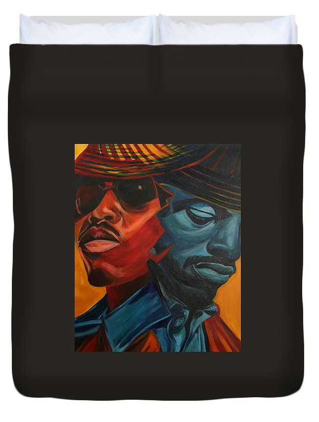Big Boi Duvet Cover featuring the painting Outkast by Kate Fortin