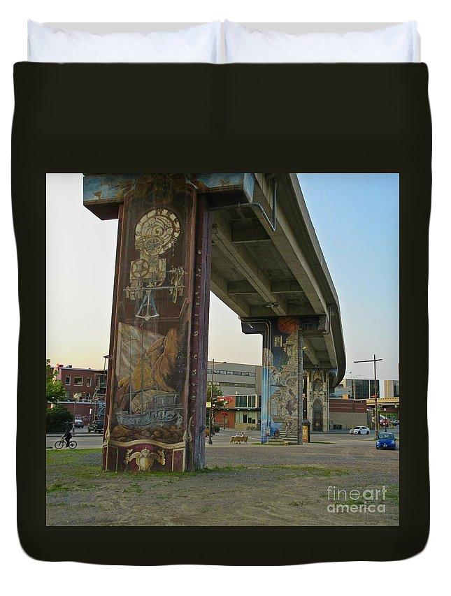 Outstanding Public Art Duvet Cover featuring the photograph Outstanding Public Art by John Malone