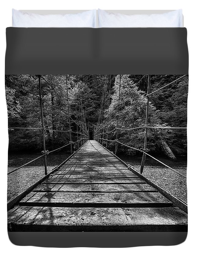 Mount Rainier National Park Duvet Cover featuring the photograph Over The River And Through The Woods by Stephen Stookey