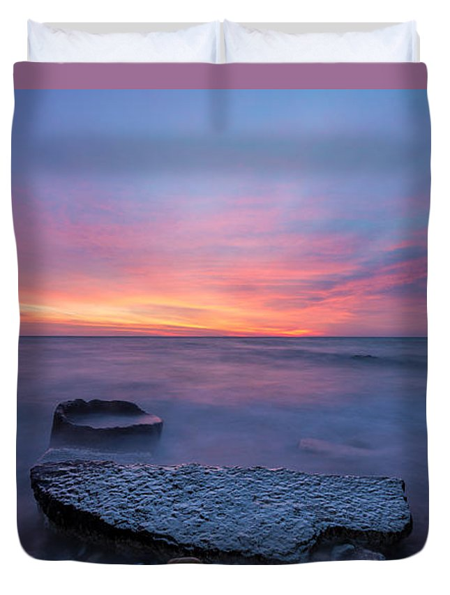 Clouds Duvet Cover featuring the photograph Over The Rocks by Andrew Slater