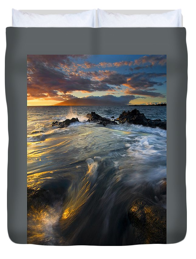 Cauldron Duvet Cover featuring the photograph Overflow by Mike Dawson