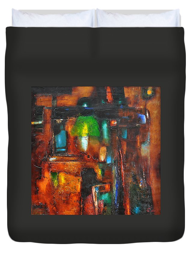 Ignatenko Duvet Cover featuring the painting Overlighting by Sergey Ignatenko