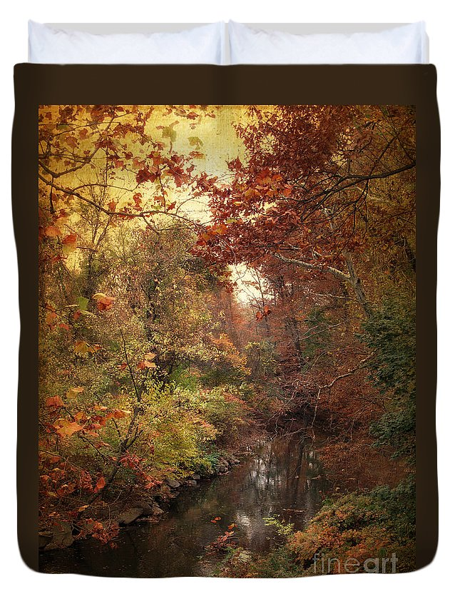 Autumn Duvet Cover featuring the photograph Overlook by Jessica Jenney