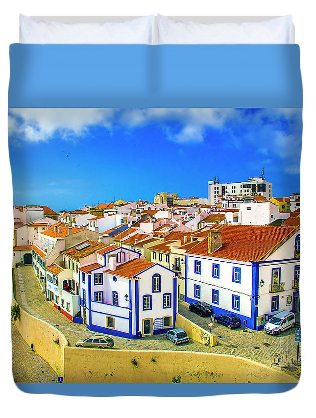 Sines Duvet Cover featuring the photograph Overlooking Sines by Roberta Bragan