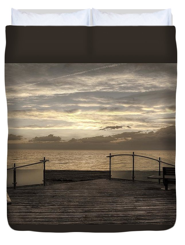 Chris Squire Duvet Cover featuring the photograph Owner Of A Lonely Heart - In Memory Of Chris Squire by Hany J