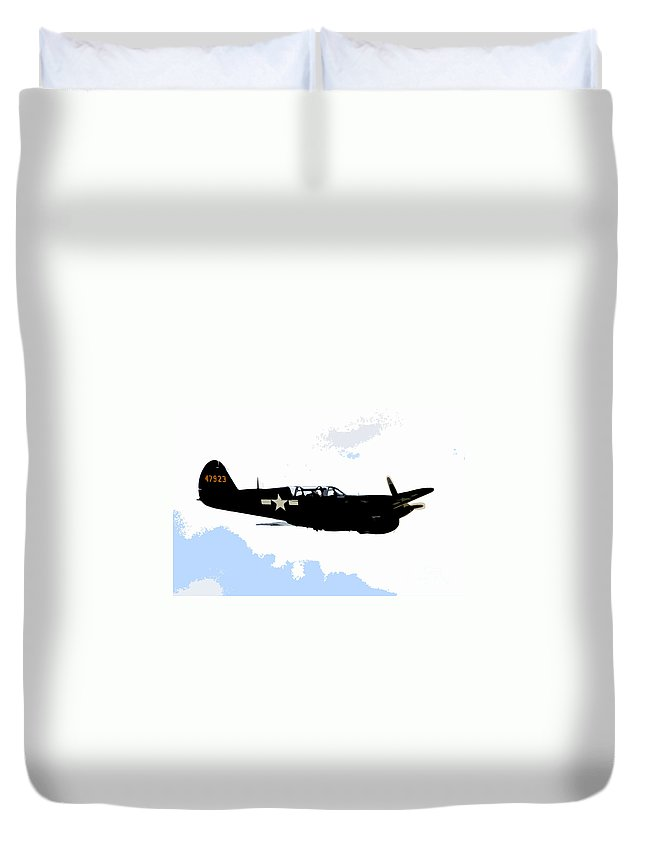 P 40 Duvet Cover featuring the painting P 40 by David Lee Thompson