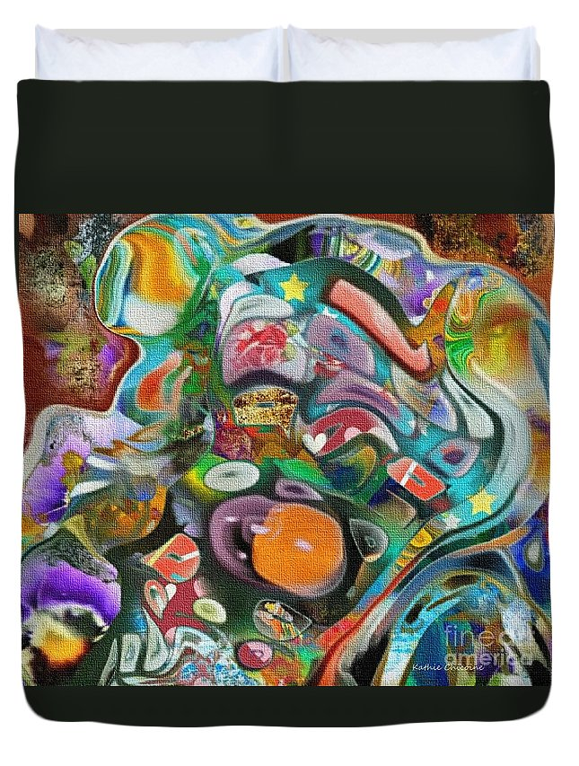 Photographicart Duvet Cover featuring the digital art Dreaming In Color by Kathie Chicoine