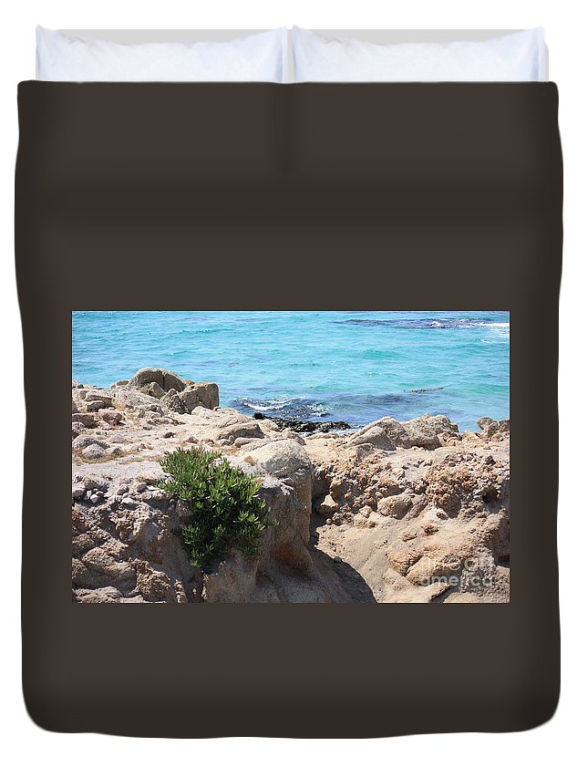 California Duvet Cover featuring the photograph Pacific Blue by Carol Groenen