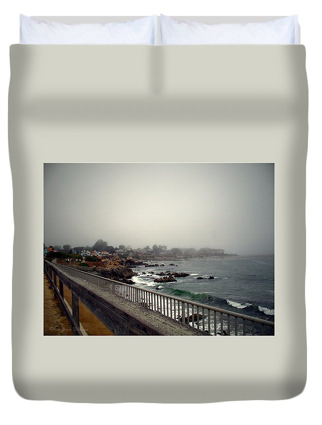 Pacific Grove Duvet Cover featuring the photograph Pacific Grove California Usa by Joyce Dickens