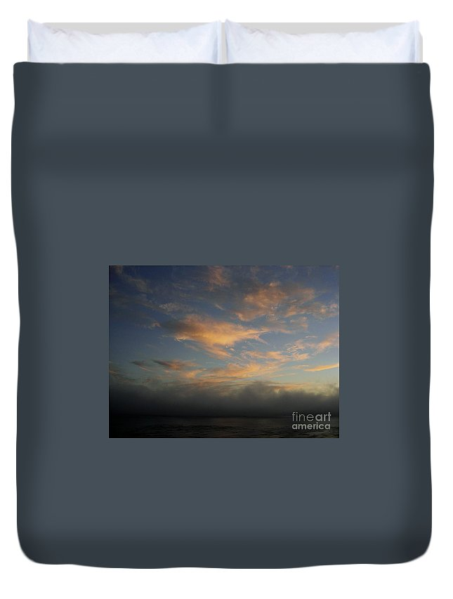 Ocean Duvet Cover featuring the photograph Pacific Grove Sunrise by Mary Rogers