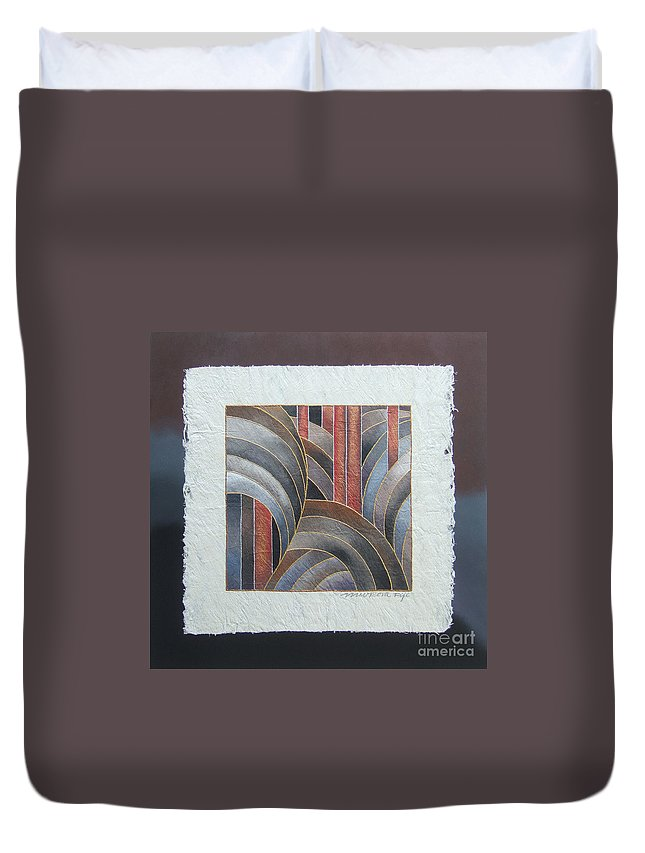 Fiji Islands Duvet Cover featuring the painting Pacific Palms II by Maria Rova