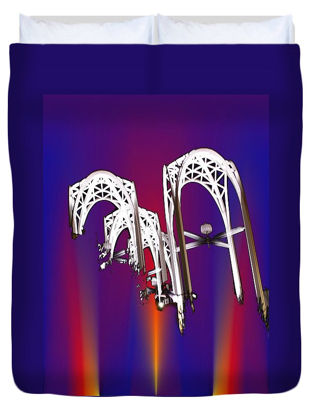 Seattle Duvet Cover featuring the photograph Pacific Science Center Arches 2 by Tim Allen