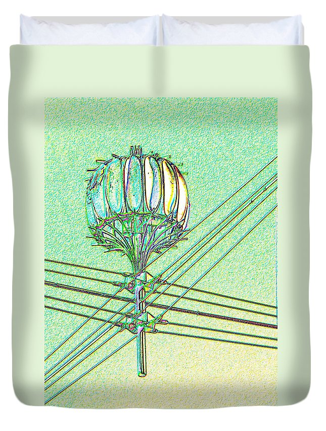 Seattle Duvet Cover featuring the digital art Pacific Science Center Lamp by Tim Allen