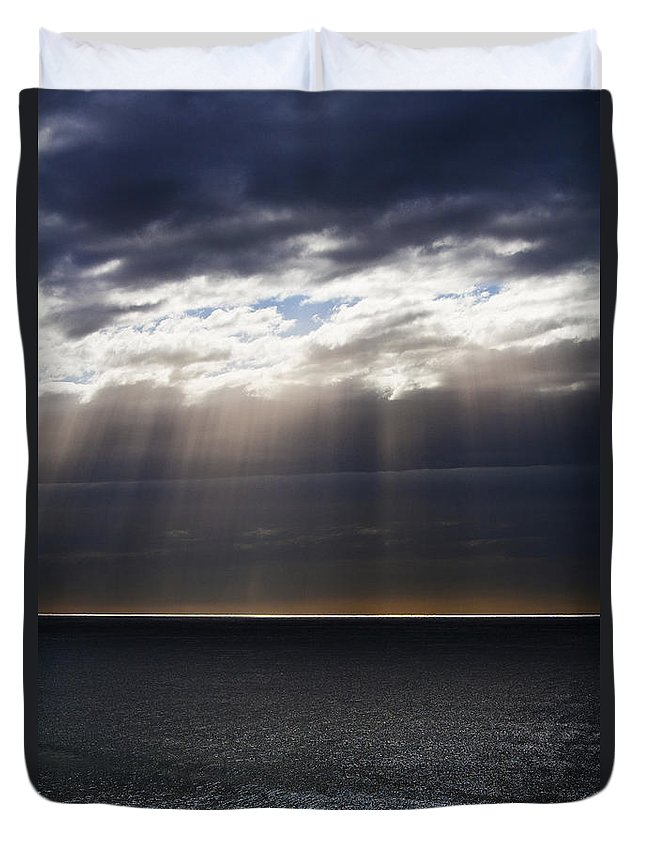 Duvet Cover featuring the photograph Pacific Storm by Sheila Smart Fine Art Photography
