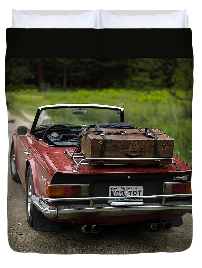 Old Duvet Cover featuring the photograph Packed Up To Travel by Alexander Fedin
