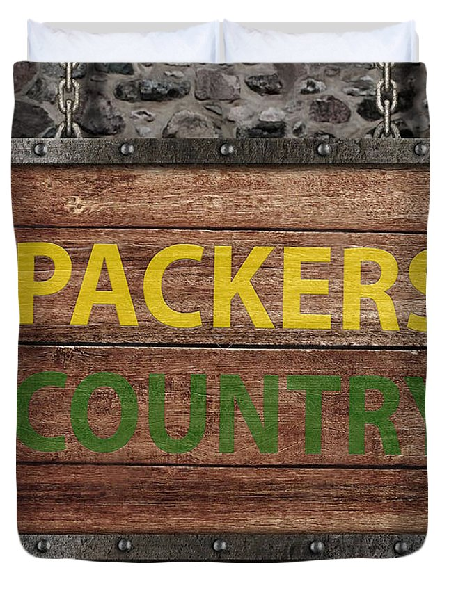 Packers Duvet Cover featuring the photograph Packers Country Medieval by Luke Tyler