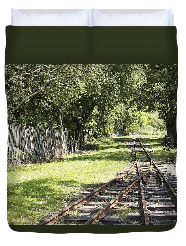 Railways Duvet Cover featuring the photograph Padarn Lake Railway by Christopher Rowlands