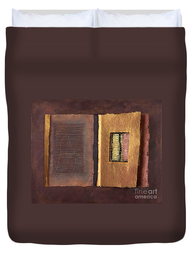 Pageformat Duvet Cover featuring the painting Page Format No 2 Transitional Series by Kerryn Madsen-Pietsch