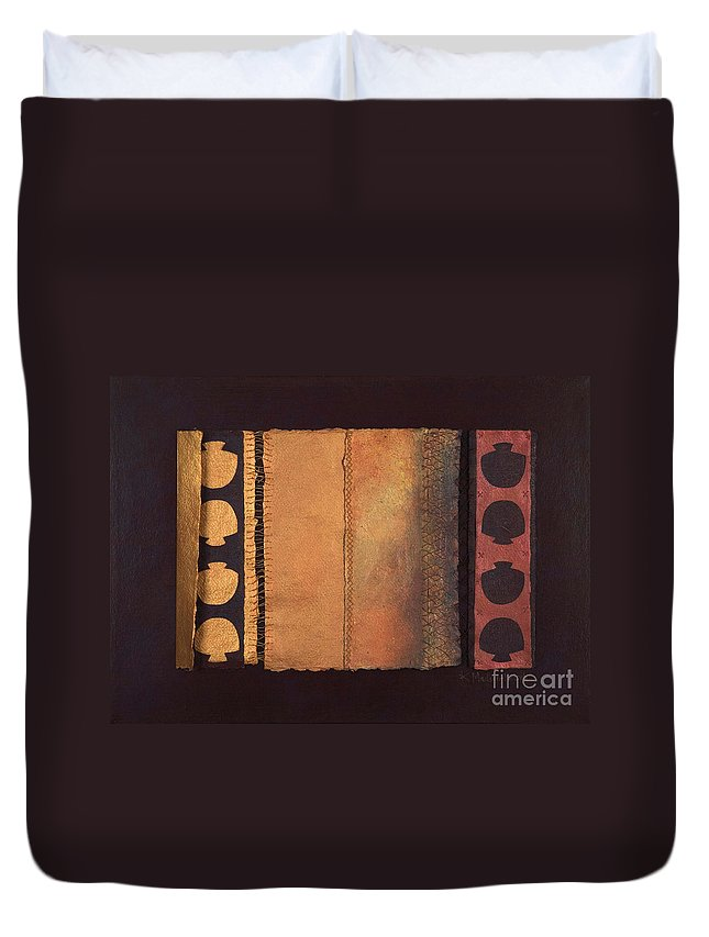 Artistbook Duvet Cover featuring the painting Page Format No.4 Tansitional Series by Kerryn Madsen-Pietsch