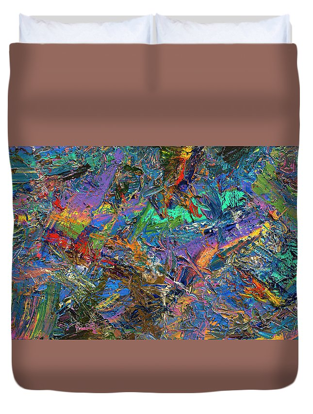Abstract Duvet Cover featuring the painting Paint Number 28 by James W Johnson