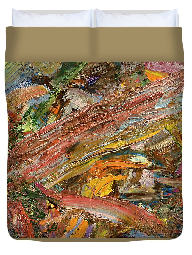 Abstract Duvet Cover featuring the painting Paint number 41 by James W Johnson
