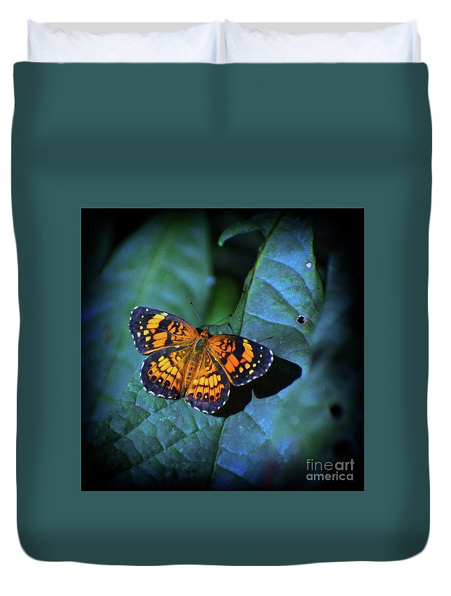 Insects Duvet Cover featuring the photograph Painted Butterfly by Skip Willits