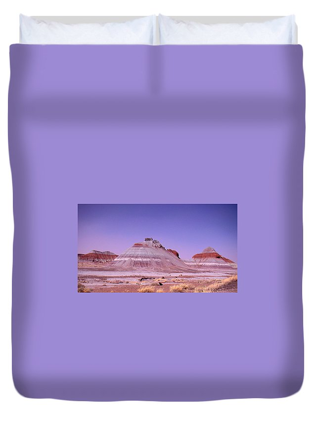 Painted Desert Duvet Cover featuring the photograph Painted Desert Tepees by Merja Waters