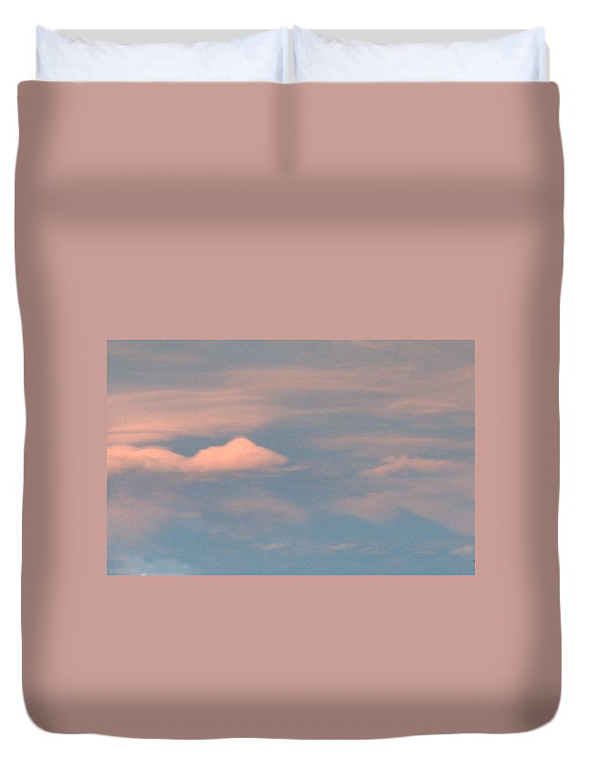 White Duvet Cover featuring the photograph Painted Sky by Lynne Barron