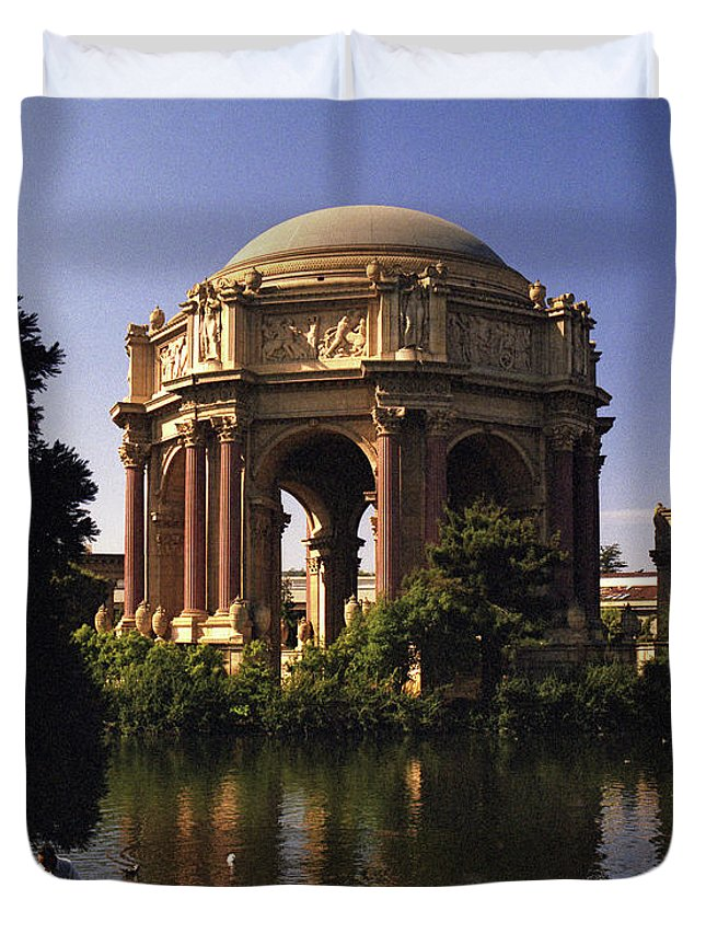 Palace Of Fine Arts Duvet Cover featuring the photograph Palace Of Fine Arts Sf by Lee Santa