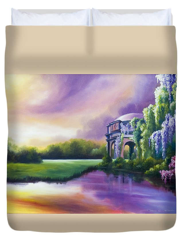 Marsh Duvet Cover featuring the painting Palace Of The Arts by James Christopher Hill