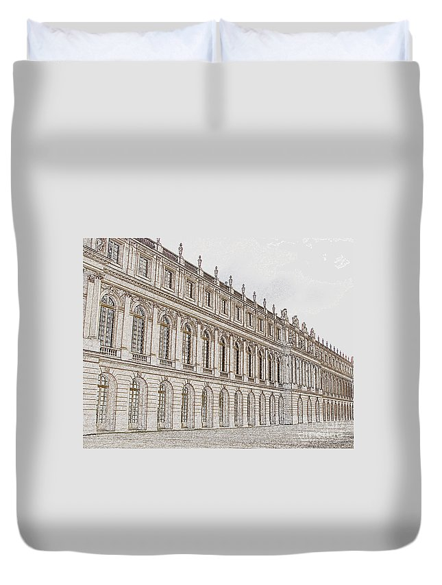France Duvet Cover featuring the photograph Palace Of Versailles by Amanda Barcon