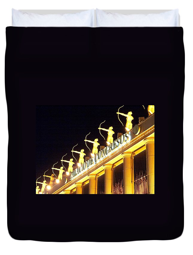 Spain Duvet Cover featuring the photograph Palacio De Congresos by Jouko Lehto