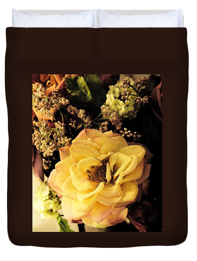 Bloom Duvet Cover featuring the photograph Pale Rose by Marna Edwards Flavell