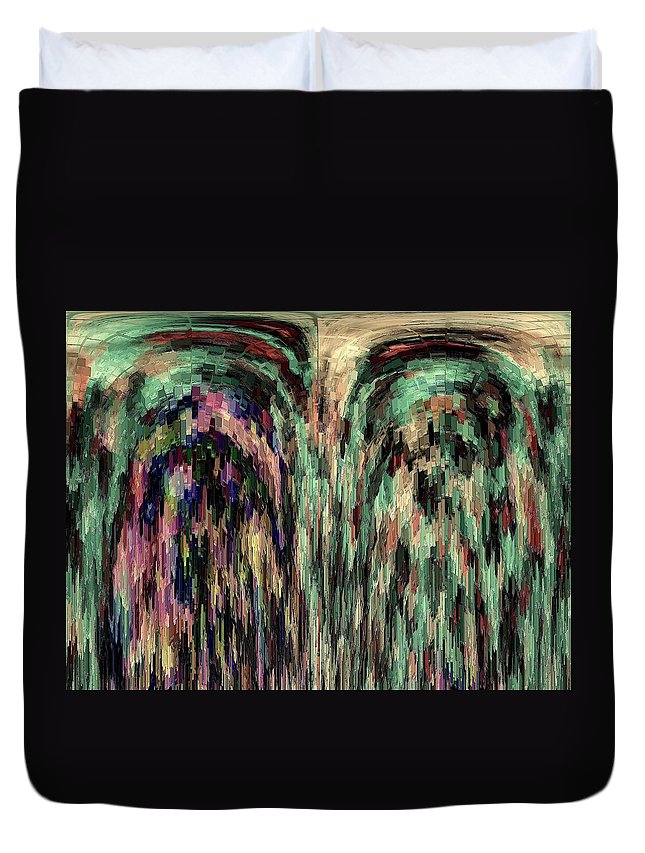 Abstract Duvet Cover featuring the photograph Palimpsest by Elizabeth Tillar