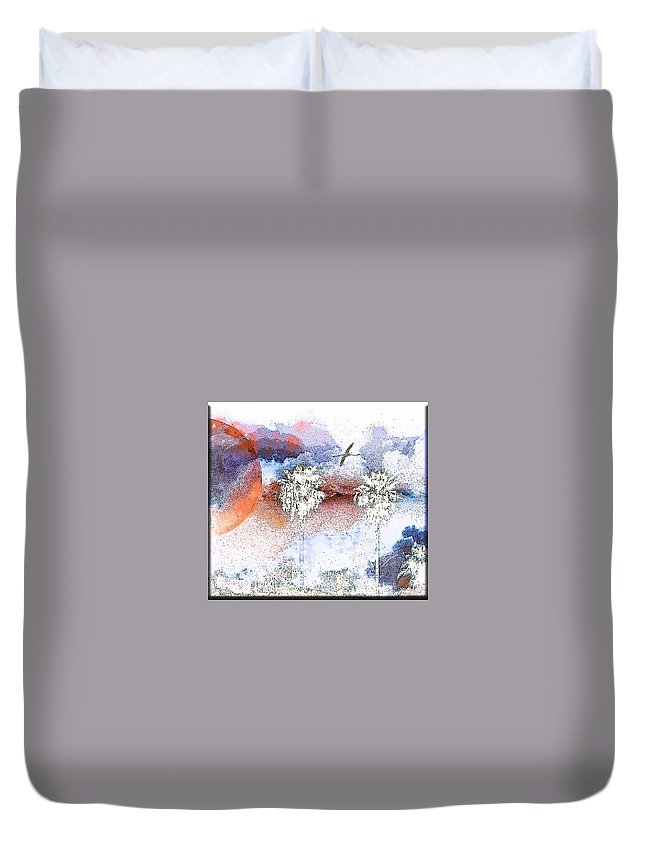 Palms Duvet Cover featuring the photograph Palm Abstract Hollywood 2 by Ralph King