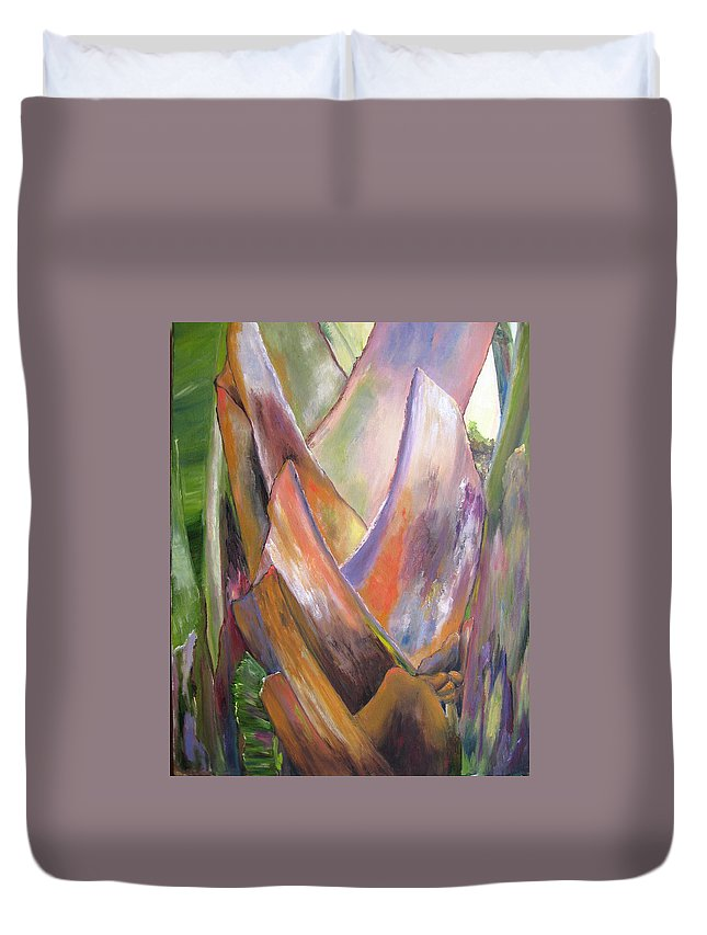 Landscape Duvet Cover featuring the painting Palm by Lisa Boyd