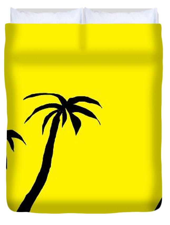 Palms And Pyramid Duvet Cover For Sale By Linda Velasquez