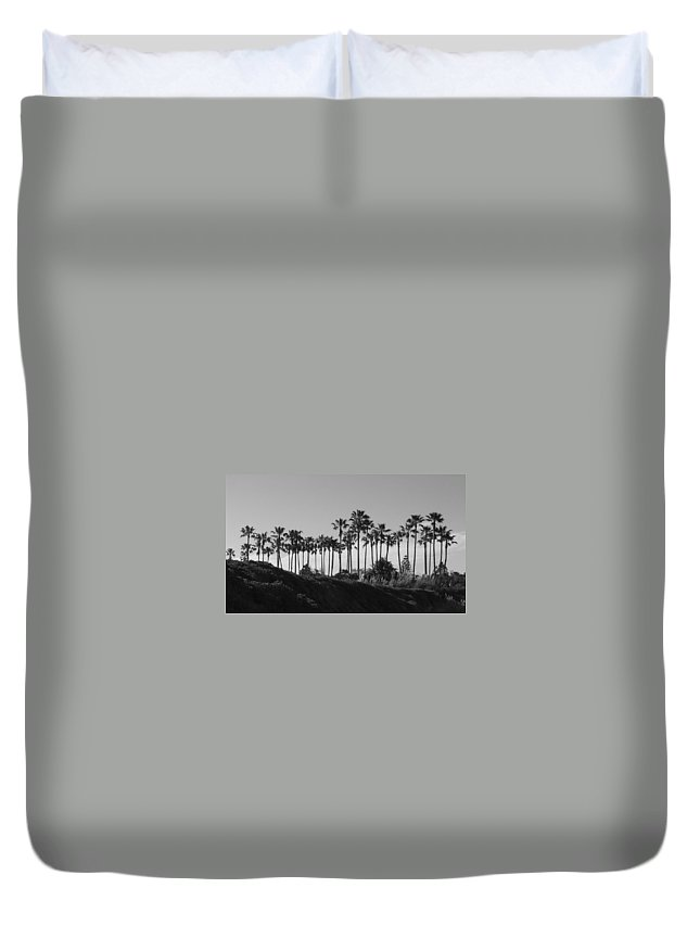 Landscapes Duvet Cover featuring the photograph Palms by Shari Chavira