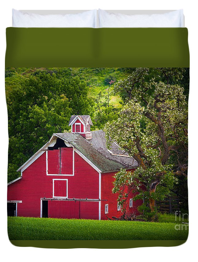America Duvet Cover featuring the photograph Palouse Barn Number 9 by Inge Johnsson