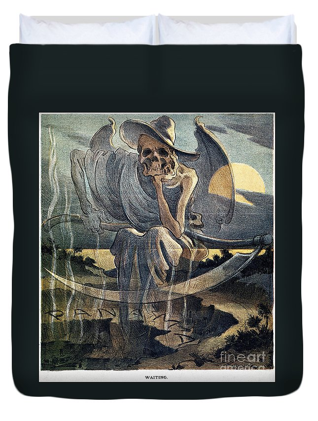 1904 Duvet Cover featuring the photograph Panama Canal Cartoon, 1904 by Granger